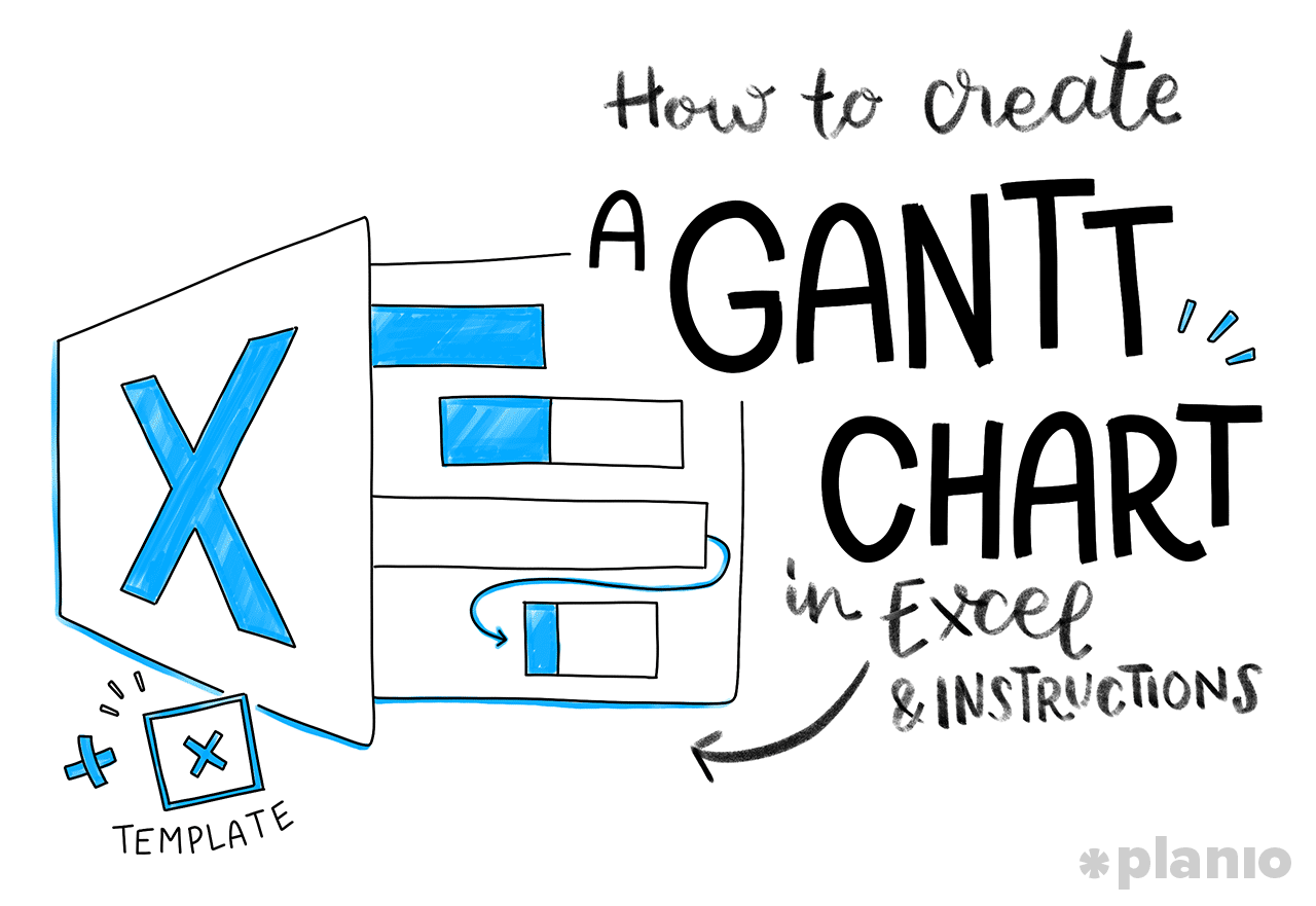 How To Create A Gantt Chart In Excel Free Template And Instructions Planio