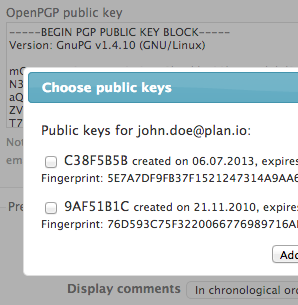 Fetch and add keys from OpenPGP key server