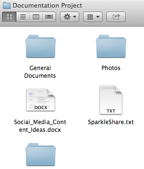 Local folder synced with Planio via SparkleShare